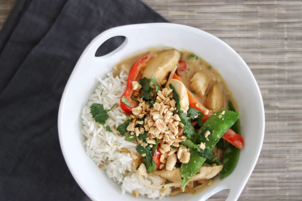 Thai-Style Coconut Peanut Chicken Stir-Fry